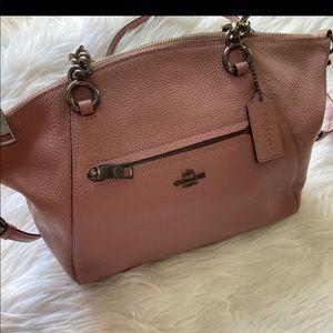 Coach pink crossbody bag